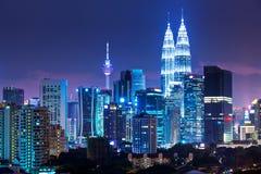 Горизонт Куалаа-Лумпур Стоковая Фотография RF
