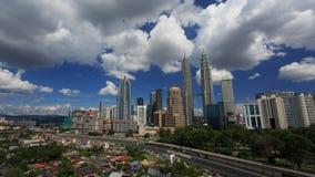 Горизонт Куалаа-Лумпур Стоковые Фотографии RF