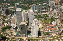 горизонт Куала Лумпур города Стоковое фото RF