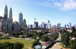 горизонт Куала Лумпур города Стоковая Фотография RF