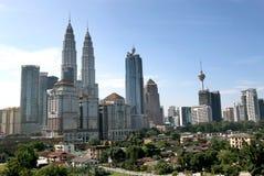горизонт Куала Лумпур города Стоковые Фотографии RF