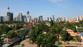 горизонт Куала Лумпур города Стоковое Изображение