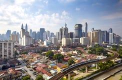 горизонт Куала Лумпур города Стоковое Изображение RF