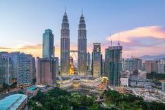 горизонт Куала Лумпур Малайзии города Стоковые Фото
