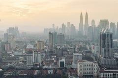 Горизонт Куала Лумпур, Малайзии Стоковые Фото