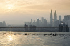Горизонт Куала Лумпур, Малайзии Стоковые Изображения RF