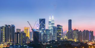 Горизонт Куала Лумпур, Малайзии Стоковая Фотография RF
