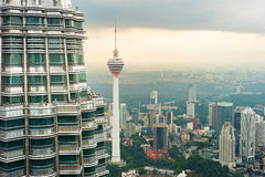горизонт Куала Лумпур Малайзия Стоковые Изображения