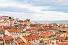 Горизонт Лиссабона, Португалии Стоковая Фотография RF