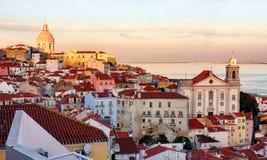 Горизонт Лиссабона, Alafama - Португалия стоковое изображение