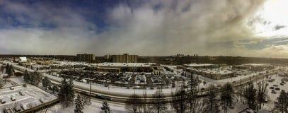 Горизонт Лондона Онтарио как красивый вид панорамы стоковые фото