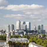 Горизонт Лондон, канереечный причал Стоковое Изображение
