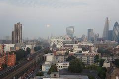 Горизонт Лондона в течение дня Стоковое Фото