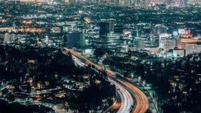 Горизонт Лос-Анджелеса от обозревает лоток вверх сток-видео