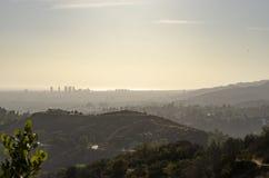 Горизонт Лос-Анджелеса в расстоянии 11 Стоковое Изображение RF