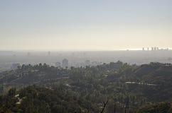 Горизонт Лос-Анджелеса в расстоянии 7 Стоковое Изображение RF