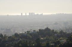 Горизонт Лос-Анджелеса в расстоянии 8 Стоковые Фото