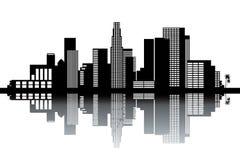 Горизонт Лос-Анджелеса Стоковая Фотография RF
