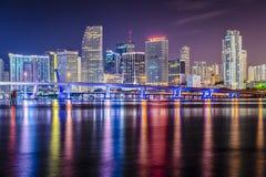 Горизонт Майами Флориды Стоковая Фотография RF