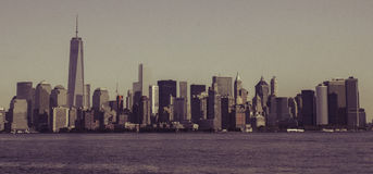 Горизонт Манхаттана нью-йорк стоковая фотография rf