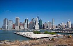 Горизонт Манхаттана - Нью-Йорк, NYC Стоковые Изображения