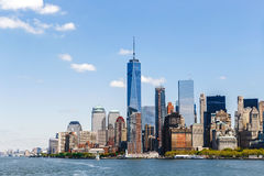 Горизонт Манхаттана панорамы Нью-Йорка Стоковые Изображения RF