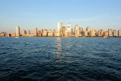 Горизонт Манхаттана стоковое фото rf