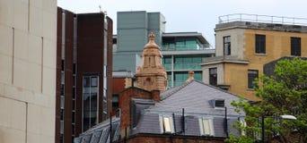 Горизонт Манчестера (здания через времена) Стоковое Фото