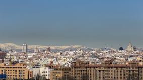 Горизонт Мадрида Стоковые Фотографии RF