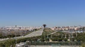 Горизонт Мадрида Стоковая Фотография