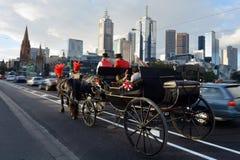 Горизонт Мельбурна Стоковое Изображение RF