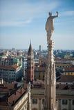 горизонт милана Италии стоковые изображения rf
