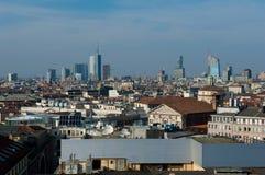 горизонт милана Италии стоковое фото