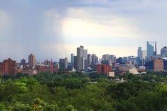 Горизонт Миннеаполиса городской стоковые фотографии rf