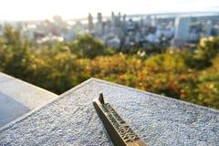 Горизонт Монреаля от Mont королевского стоковые изображения rf