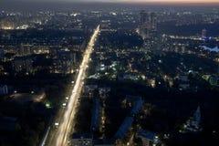 Горизонт Москва на ноче Стоковая Фотография RF
