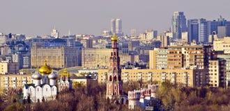 Горизонт Москвы, Россия Стоковые Фото