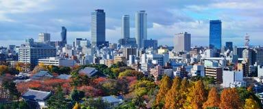 Горизонт Нагои Японии стоковые изображения rf