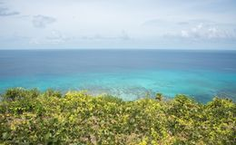 Горизонт над Тихим океаном бирюзы Стоковое Изображение RF