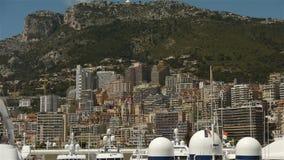 Горизонт на Монако, Cote d'Azur Франции акции видеоматериалы