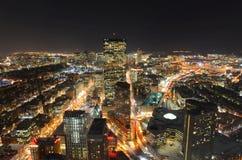 Горизонт на ноче, Массачусетс Бостона, США Стоковая Фотография