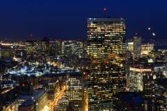 Горизонт на ноче, Массачусетс Бостона, США Стоковые Фото