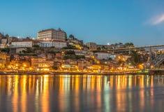 Горизонт на сумраке, Португалия Порту Стоковые Фотографии RF