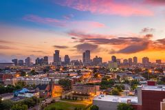 Горизонт Нового Орлеана Луизианы Стоковые Фото