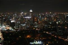 Горизонт ночи Бангкока Стоковые Изображения RF