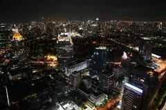 Горизонт ночи Бангкока Стоковые Фото