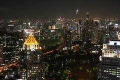 Горизонт ночи Бангкока Стоковое фото RF