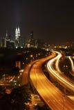 горизонт ночи Куала Лумпур Стоковая Фотография