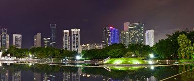 горизонт ночи Куала Лумпур Стоковая Фотография RF
