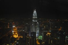горизонт ночи стоковые фотографии rf